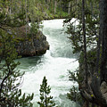 Yellowstone Waterfall by Linda Kerkau