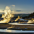 Yellowstone's Midway Geyser Basin  by Neal Herbert