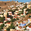 Yialos Town On Symi Island by David Fowler