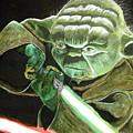 Yoda Fights by Jacob Logan