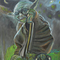 Yoda In Starry Night by To-Tam Gerwe