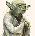 Yoda Portrait by Olga Shvartsur