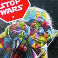 Yoda - Stop Wars by Juergen Weiss