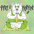 Yoga Beer Bear by Shari Warren
