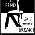 Yoga - Bend So You Won't Break by Vagabond Folk Art - Virginia Vivier