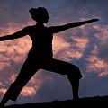 Yoga Sunset by Karen Ulvestad