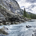 Yoho River At Takakkaw Falls by Daryl L Hunter