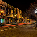 York South Carolina Downtown During Christmas by Alex Grichenko