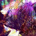 Yorkshire Puppy Domestic Animal  by PixBreak Art