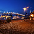 Yorktown Waterfront At Night by Amy Jackson