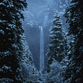 Yosemite Falls In January by Stan and Anne Foster