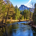 Yosemite Merced River With Half Dome by Roslyn Wilkins