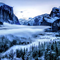 Yosemite National Park Tunnel View Snowy Morning by Christopher Arndt
