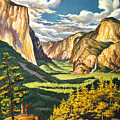 Yosemite Park Vintage Poster by Pd