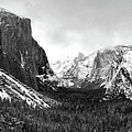 Yosemite Valley Not Clearing Winter Storm by Larry Darnell