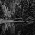 Yosemite Valley Reflactions Bw by Rick Strobaugh