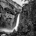 Yosemite Waterfall Bw by Az Jackson