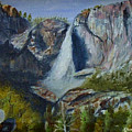 Yosemite Waterfall by Quwatha Valentine