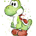 Yoshi Watercolor by Olga Shvartsur
