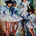 Young Ballerinas by Leonid Afremov