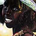 Young Black African Girl by John Lautermilch