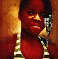 Young Black Female Teen 1 by Ginger Wakem
