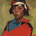 Young Buck Of The Tesuque Pueblo by Robert Henri