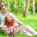Young Couple In The Park by Anna Om