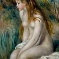 Young Girl Bathing, 1892 by Pierre Auguste Renoir