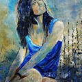 Young Girl In Blue by Pol Ledent