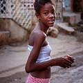 Young Girl In Trinidad Cuba by Joan Carroll