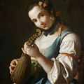 Young Girl Playing Musical Instrument by MotionAge Designs