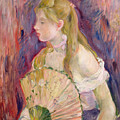 Young Girl With A Fan by Berthe Morisot