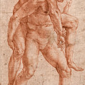 Young Man Carrying An Old Man On His Back by Raphael