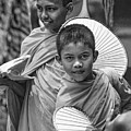 Young Monks 2 Bw by Steve Harrington