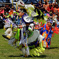 Young Native Indian  Boys Dancing In Tiny Tots Competition At A  by Reimar Gaertner