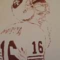 Young Nfl Montana by Jack Bunds