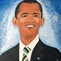 Young President Obama by Carlaj Sanders