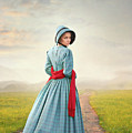 Young Victorian Woman On A Country Path by Lee Avison