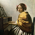 Young Woman at a Virginal by Jan Vermeer