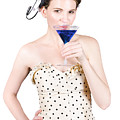 Young Woman Drinking Alcoholic Beverage by Jorgo Photography - Wall Art Gallery