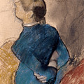 Young Woman In Blue by Edgar Degas