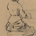 Young Woman Seated At A Piano [verso] by Jean-louis Forain