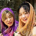 Young Women Silk Scarves 01 by Rick Piper Photography