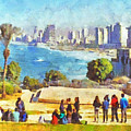 Youth Groups In Tel Aviv by Digital Photographic Arts