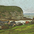 Yport And The Falaise D'aval by Claude Monet