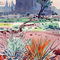 Yucca And Buttes by Donald Maier