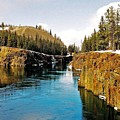 Yukon River And Miles Canyon - Whitehorse by Juergen Weiss