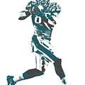 Zach Ertz Philadelphia Eagles Pixel Art 1 by Joe Hamilton