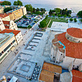 Zadar Forum Square Ancient Architecture Aerial View by Brch Photography